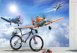 Tapet foto pentru copii, Avioane în cer