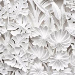 Fototapet 3D, Frunze albe