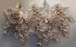 Fototapet 3D, O floare 3D
