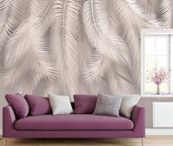 Fototapet, Frunze de palmier de culoare crem pal
