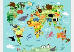 Fototapet, Harta animalelor