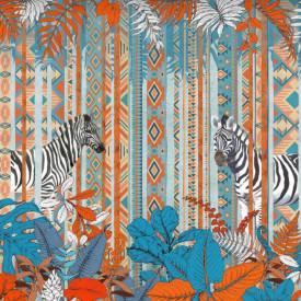 Fototapet, Model tribal cu zebre