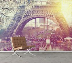 Fototapet, Mulțimi de oameni în Paris