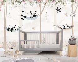 Fototapet Pentru Copii, Panda în hamac