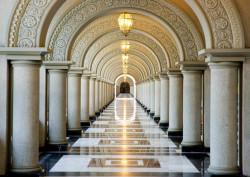 Fototapet, Un hol cu coloane