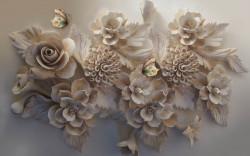 Fototapete 3D, O floare 3D.