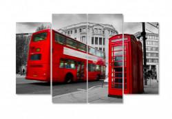 Multicanvas, Autobuzul roș și cabinele telefonice