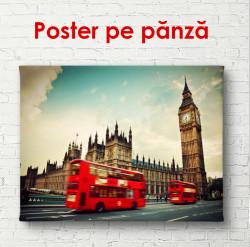 Poster, Autobuzul roșu pe fundalul Big Ben