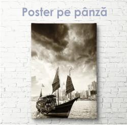 Poster, Barca cu steaguri