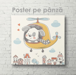 Poster, Câine în helicopter