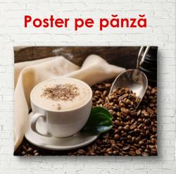 Poster, Cappuccino pe masă