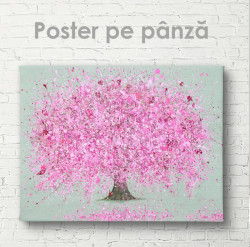 Poster, Copacul cu flori roz