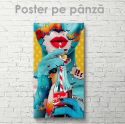 Poster, Doamna cu apă gazată