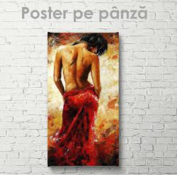 Poster, Doamnă într-o rochie roșie aprinsă