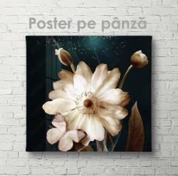 Poster, Floare cu fluture