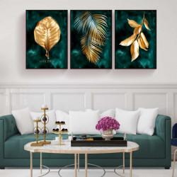 SET, Frunze aurii pe fundal verde
