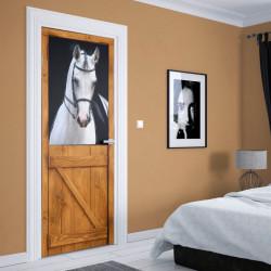 Stickere 3D pentru uși, Armăsarul alb, 1 foaie de 80 x 200 cm