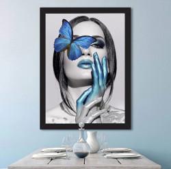 Tablou, Fluture albastru