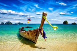 Tablou modular, Barcă pe fundalul mării