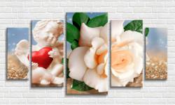 Tablou modular, Trandafirul gingaș și îngerul