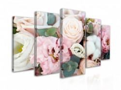 Tablou modular, Un buchet de flori delicate