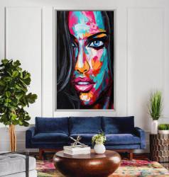 Tablou, Portretul unei fete în culori