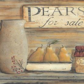 Tablouri Canvas, Pere cu un ulcior pe masa