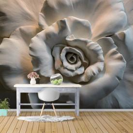 Fototapet 3D, Sculptura unui trandafir gri