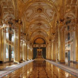Fototapet, Coridorul cu pereți aurii