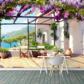 Fototapet, Liliac pe terasă