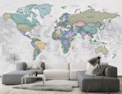 Fototapet, O hartă politică a lumii