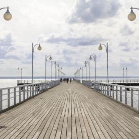 Fototapet, Podul lung de-a lungul oceanului.