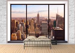 Fototapete, Fereastră cu vedere la New York