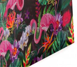 Multicanvas, Flamingo pe un fundal multi-colorat.