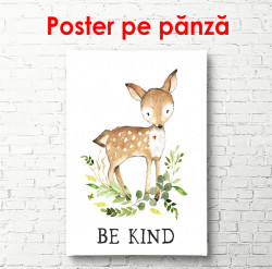 Poster, Cerb pe fundal alb