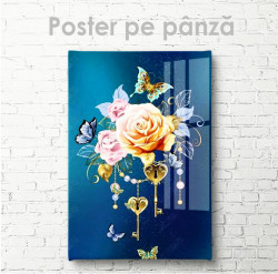 Poster, Cheia de la inimă - Florile