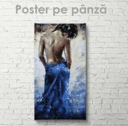 Poster, Fată în rochie albastră