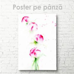 Poster, Mugurași de flori în acuarela