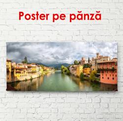 Poster, Orașul frumos pe fundalul cerului roșu