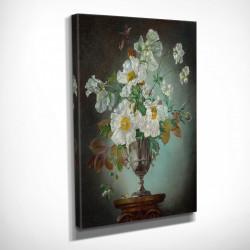 """Poster, Pictură """"Flori albe într-o vază"""""""