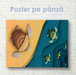 Poster, Țestoasele fug în ocean