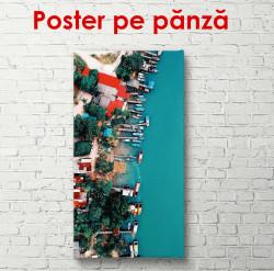 Poster, Vedere de sus pe coasta orașului