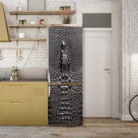 Stickere 3D pentru uși, Textura pielii de crocodil cenușiu, 1 foaie de 80 x 200 cm