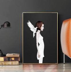 Tablou, Fată cu porumbel