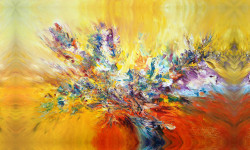 Tablou modular, Acuarelă cu flori