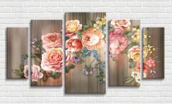 Tablou modular, Buchet de flori