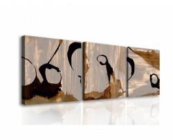 Tablou modular, Desene maro.