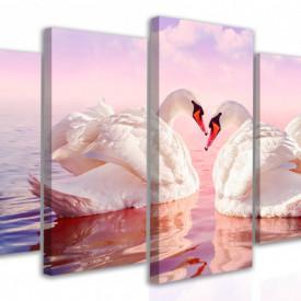 Tablou modular, Lebedele înoată pe lac