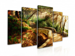 Tablou modular, Podul din pădure