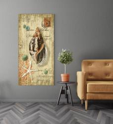 Tablouri Canvas, Poza retro cu coajă de mare